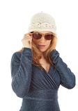 Fashion girl with sun glasses Stock Images