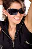 Fashion girl with sunglasses Royalty Free Stock Photo