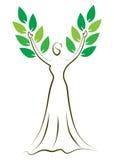 Fashion girl tree. Illustration of fashion girl tree design isolated on white background Stock Image