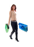 Fashion Girl With Two Shopping Bags. Royalty Free Stock Image