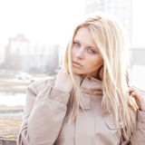 Fashion girl urban style portrait outdoor Royalty Free Stock Photo