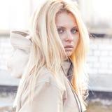 Fashion girl urban style portrait outdoor Royalty Free Stock Image