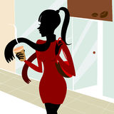 Fashion girl vector Stock Photography