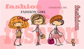 Fashion girl vector Royalty Free Stock Photos