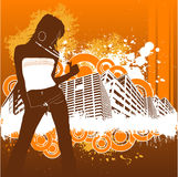 Fashion girl vector Royalty Free Stock Images