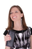 Fashion girl with wallet Stock Photography