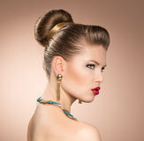 Fashion girl wearing jewelery Royalty Free Stock Image