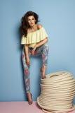 Fashion girl wearing pastel clothes Royalty Free Stock Image