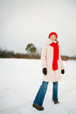 Fashion girl wearing winter clothing Royalty Free Stock Images