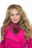 Fashion girl wearing winter fur coat Royalty Free Stock Photography