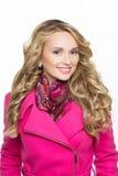 Fashion girl wearing winter fur coat Stock Image