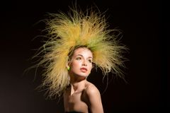 Fashion Girl With Original Hairstyle Royalty Free Stock Image