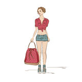Fashion girl . Stock Images