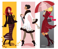 Fashion girls stock illustration