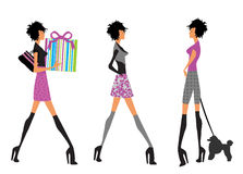 Fashion girls Stock Images