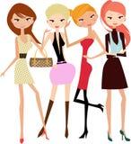 Fashion girls stock photography