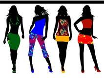 Fashion girls Stock Images