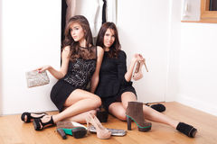 Fashion girls Stock Image