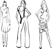 Fashion Girls Designer Sketch Stock Image