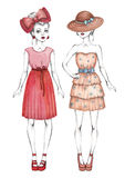 Fashion girls illustration Royalty Free Stock Photo