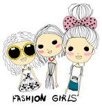 Fashion girls Stock Photo