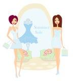 Fashion girls Shopping Royalty Free Stock Images