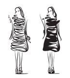 Fashion girls sketch. Royalty Free Stock Photography