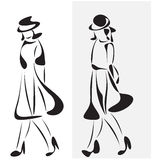 Fashion girls sketch Stock Photo