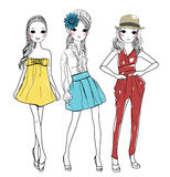 Fashion girls Stock Photos