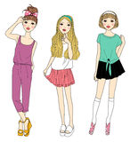 Fashion girls Royalty Free Stock Photo