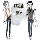 Fashion girls Royalty Free Stock Images