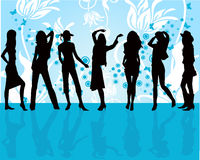 Fashion girls -  vector Stock Photos