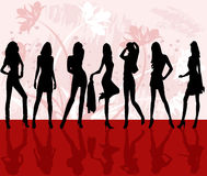 Fashion girls -  vector Royalty Free Stock Photography