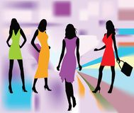 Fashion girls vector Stock Image