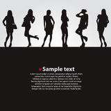 Fashion girls vector dark backgrounds. Stock Photography