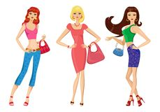 Fashion girls vector illustration Stock Photo