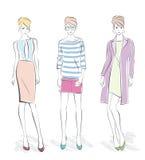 Fashion girls Royalty Free Stock Image