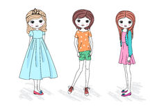 Fashion girls Royalty Free Stock Images