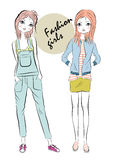 Fashion girls Stock Image