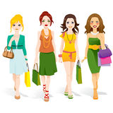 Fashion Girls Walking Stock Photos