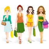 Fashion Girls Walking Stock Photos