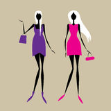 Fashion girls for your design Stock Image