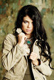 Fashion glamour beauty girl with stylish hairstyle Stock Photos