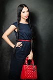 Fashion Glamour Girl over black background Stock Image
