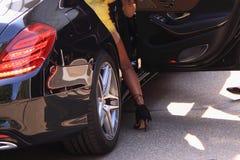 Fashion glamour style sexy female leg Stock Image