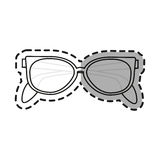 fashion glasses design. Glasses icon. Fashion style accessory eyesight and lens theme.  design. Vector illustration Stock Image