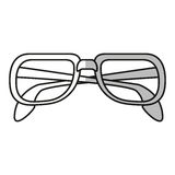 fashion glasses design. Glasses icon. Fashion style accessory eyesight and lens theme.  design. Vector illustration Royalty Free Stock Photos