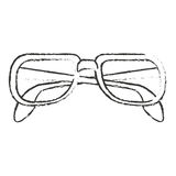 fashion glasses design. Glasses icon. Fashion style accessory eyesight and lens theme.  design. Vector illustration Stock Photography
