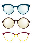 Fashion glasses frame different styles. Set eyeglasses accessory design. Royalty Free Stock Photography