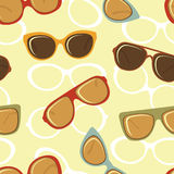 Fashion glasses seamless background Stock Images